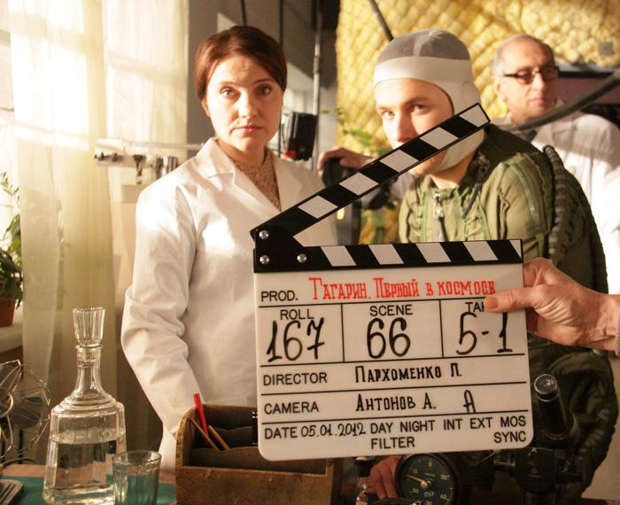 Гагарин первый в космосе кадры